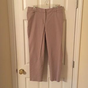 Khaki ankle pants - size 10
